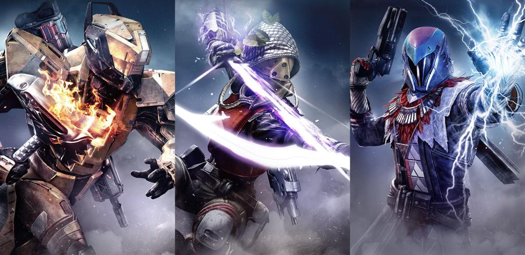 Las tres clases de Destiny